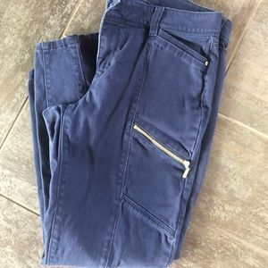 WHBM navy skinny contour cropped Capri pants